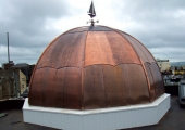 contemporary copper roofing royal navel base southampton