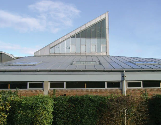 contemporary stainless steel roofing guildford baptist church 11